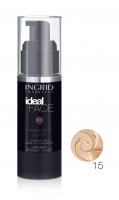 INGRID - Ideal Face - Perfectly Cover - LUXURIOUS SILKY MAKE-UP FOUNDATION - Luksusowy jedwabisty podkład do twarzy - 15 NATURAL - 15 NATURAL