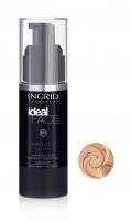 INGRID - Ideal Face - Perfectly Cover - LUXURIOUS SILKY MAKE-UP FOUNDATION - Luksusowy jedwabisty podkład do twarzy - 17 WARM BEIGE - 17 WARM BEIGE