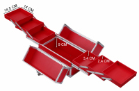 Czerwony kufer kosmetyczny - Red - NS01