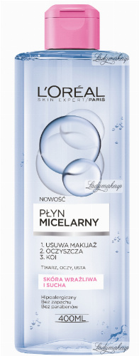 L'Oréal - Płyn micelarny - Skóra wrażliwa i sucha
