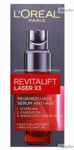 L'Oréal - REVITALIFT LASER X3 - Regenerujące Serum Anti-Age z kwasem hialuronowym