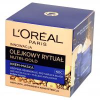 L'Oréal - NUTRI-GOLD - Olejkowy rytuał - Odżywczy krem-olejek na noc - Skóra sucha