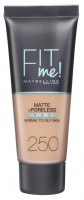 MAYBELLINE - FIT ME! Liquid Foundation For Normal To Oily Skin - Podkład matujący do twarzy - 250 SUN BEIGE - 250 SUN BEIGE