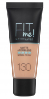 MAYBELLINE - FIT ME! Liquid Foundation For Normal To Oily Skin - 130 BUFF BEIGE - 130 BUFF BEIGE