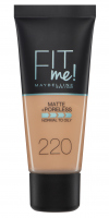 MAYBELLINE - FIT ME! Liquid Foundation For Normal To Oily Skin - Podkład matujący do twarzy - 220 NATURAL BEIGE - 220 NATURAL BEIGE