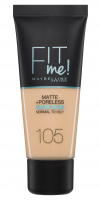 MAYBELLINE - FIT ME! Liquid Foundation For Normal To Oily Skin - Podkład matujący do twarzy - 105 NATURAL IVORY - 105 NATURAL IVORY