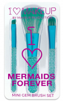 I ♡ Makeup - I ♡ Mermaids Forever - MINI GEM BRUSH SET - Zestaw 3 pędzli do makijażu