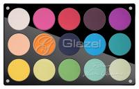 Glazel - Paleta 15 cieni do powiek (kolory sygnowane przez Wiolettę Uzarowicz) - 1