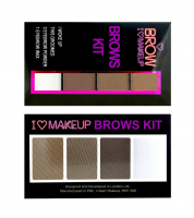 I Heart Revolution - BROWS KIT - 3 Eyebrow Powder + Wax - Zestaw do makijażu brwi
