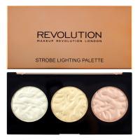 MAKEUP REVOLUTION - STROBE LIGHTING - Strobe Lighting Palette - Paleta 3 rozświetlaczy