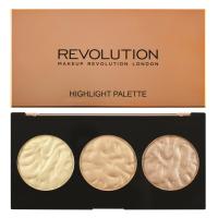 MAKEUP REVOLUTION - HIGHLIGHT PALETTE - Rose Lights - Paleta 3 rozswietlaczy