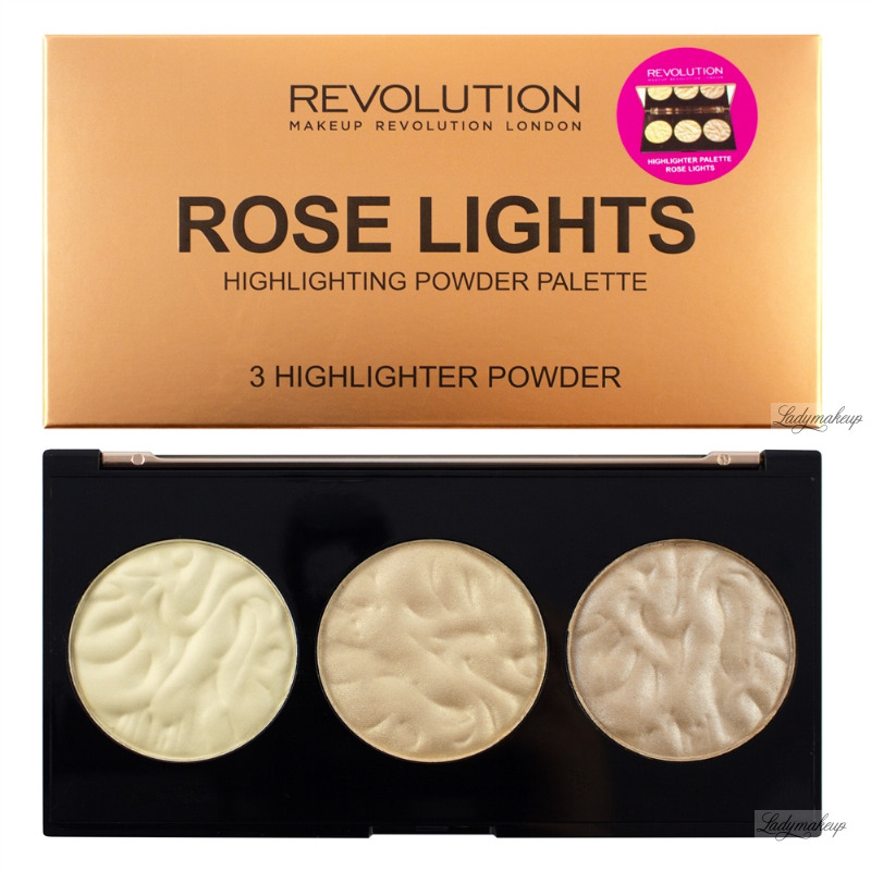 Makeup revolution highlighter palette rose lights