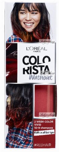 L'Oréal - COLORISTA Washout - #REDHAIR - Zmywalna koloryzacja - CZERWONY