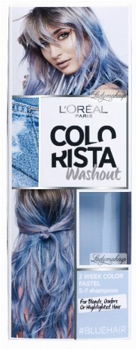 L'Oréal - COLORISTA Washout - #BLUEHAIR - Zmywalna koloryzacja - NIEBIESKI