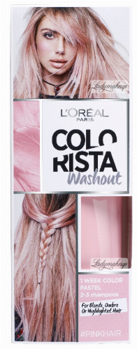 L'Oréal - COLORISTA Washout - #PINKHAIR - Zmywalna koloryzacja - JASNY RÓŻOWY