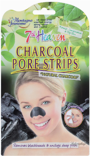 7th Heaven (Montagne Jeunesse) - Plastry oczyszczające pory z aktywnym węglem, dla kobiet, 3 szt.