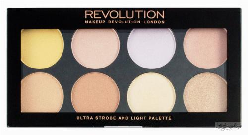 MAKEUP REVOLUTION - ULTRA STROBE AND LIGHT PALETTE - 8 Highlighters