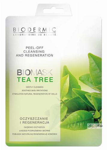 BIODERMIC - PEEL-OFF CLEANSING AND REGENERATION - BIOMASK TEA TREE - Oczyszczanie i regeneracja