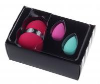 W7 - POWER PUFF TRIO - Face Blending Sponge Set - Zestaw 3 gąbek do aplikacji kosmetyków