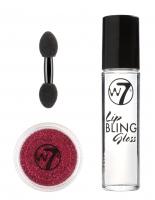 W7 - LIP BLING - Party Glitter Lips - Lip Gloss + Glitter