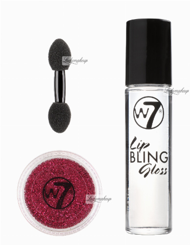 W7 - LIP BLING - Party Glitter Lips - Błyszczyk i brokat na usta