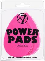 W7  POWER PADS - Face Blotting Sponge Pads - Zestaw 2 gąbek matujących