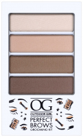 W7 - Outdoor Girl Perfect Brows - GROOMING KIT - Zestaw pudrów do brwi