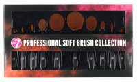 W7 - Professional Soft Brush Collection - Zestaw 10 pędzli do makijażu