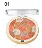 MILANI - Illuminating Face Powder - ULTRA-SMOOTH HIGHLIGHTER, BRONZER & BLUSH - Róż, bronzer i rozświetlacz w jednym - 01 AMBER NECTAR - 01 AMBER NECTAR