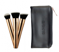 MAKEUP REVOLUTION - ULTRA METALS GO CONTOURING With free soft effect bag - 3 contouring brushes + case