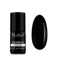 NeoNail - Aquarelle Color - Lakier Hybrydowy - 6 ml i 7,2 ml - 5514-1 - Black Aquarelle - 5514-1 - Black Aquarelle