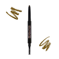 MAKEUP REVOLUTION - DUO BROW DEFINER - Kredka do brwi ze szczoteczką - LIGHT BROWN - LIGHT BROWN