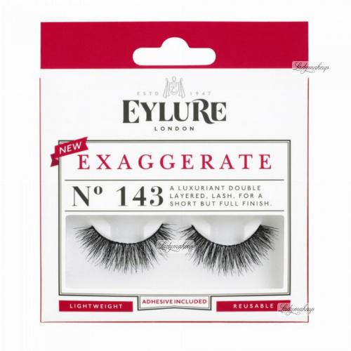 EYLURE - EXAGGERATE - NR 143 - Rzęsy z klejem - Efekt podwójnej objętości