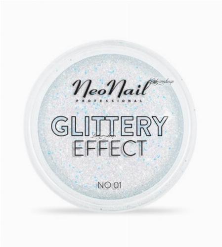NeoNail - GLITTERY EFFECT - Gruby pyłek do stylizacji paznokci - Efekt brokatu