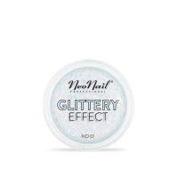 NeoNail - GLITTERY EFFECT - Gruby pyłek do stylizacji paznokci - Efekt brokatu - 01 - 01