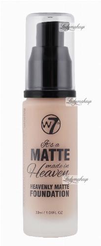 W7 - It's a Matte made in Heaven - HEAVENLY MATTE FOUNDATION - Matujący podkład do twarzy