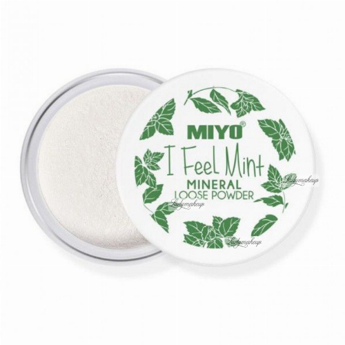 MIYO - I Feel Mint - MINERAL LOOSE POWDER - Puder mineralny z miętą, bambusem i ekstraktem z aloesu