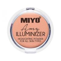 MIYO - ILLUMINIZER - Highlighting Powder For All Skin Types - Rozświetlacz do twarzy, ciała i powiek - 02 - AMY - 02 - AMY