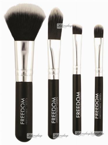 FREEDOM - MINI KIT BRUSH SET - Mini zestaw 4 pędzli do makijażu