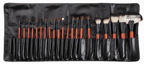 Delfa - Set of 21 make-up brushes + case