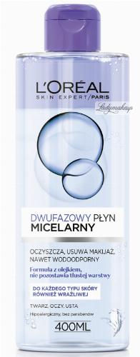 L'Oréal - Dwufazowy płyn micelarny do każdego typu skóry