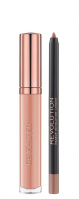 MAKEUP REVOLUTION - RETRO LUXE - GLOSS LIP KIT - Lip Pencil & Liquid Lipstick - Konturówka i pomadka w płynie - HONOUR - HONOUR