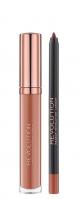 MAKEUP REVOLUTION - RETRO LUXE - GLOSS LIP KIT - Lip Pencil & Liquid Lipstick - Konturówka i pomadka w płynie - TRUTH - TRUTH