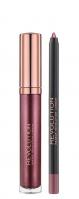 MAKEUP REVOLUTION - RETRO LUXE - METALLIC LIP KIT - Lip Pencil & Liquid Lipstick - Metaliczna konturówka i pomadka w płynie - WORTH IT - WORTH IT