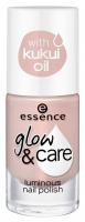 Essence - GLOW & CARE - Luminous Nail Polish - Rozświetlający lakier do paznokci