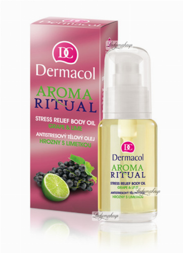 Dermacol - AROMA RITUAL - STRESS RELIEF BODY OIL - GRAPE & LIME - Grape and lime scented body oil