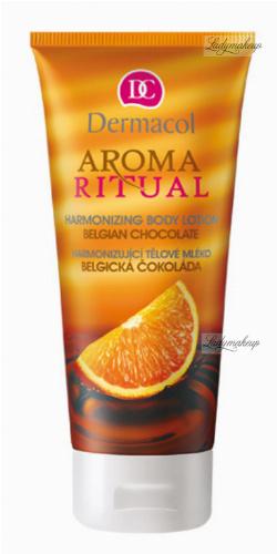 Dermacol - AROMA RITUAL - HARMONIZING BODY LOTION - BELGIAN CHOCOLATE - Balsam do ciała o zapachu belgijskiej czekolady i pomarańczy