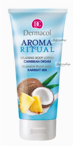 Dermacol - AROMA RITUAL - RELAXING BODY LOTION - CARIBBEAN DREAM - Balsam do ciała o zapachu ananasa i kokosa