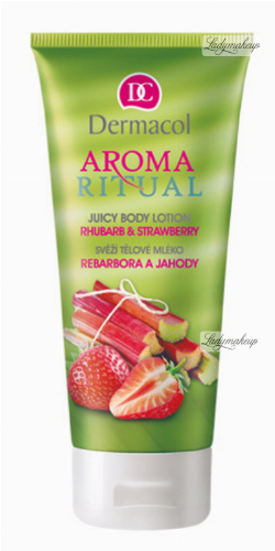 Dermacol - AROMA RITUAL - JUICY BODY LOTION - RHUBARB & STRAWBERRY