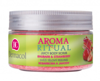 Dermacol - AROMA RITUAL - JUICY BODY SCRUB - RHUBARB & STRAWBERRY